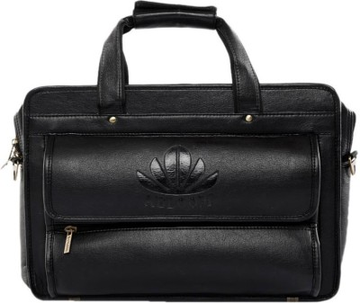 Abloom ABLM1504 Medium Briefcase - For Men(Black)