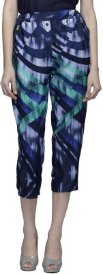 Oxolloxo Women's Blue Capri at flipkart