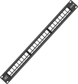 "MX 19"" Rock Mount 24 Port RJ45 CAT5e Patch Panel Lan Network Without I/O Blank With Cable Management Lan Adapter(1000 Mbps)"