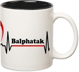 Muggies Magic Balphatak High Quality Printed Inner Black Ceramic Mug(325 ml)