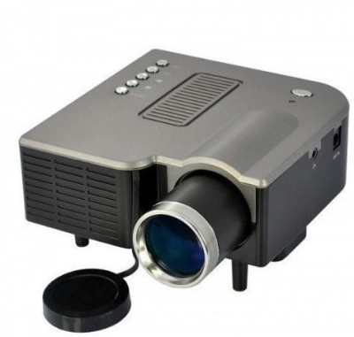 Wonder World Mini Video TFT LCD Metal Buttons And Lens Edge 40 lm LED Corded Portable Projector(Black)