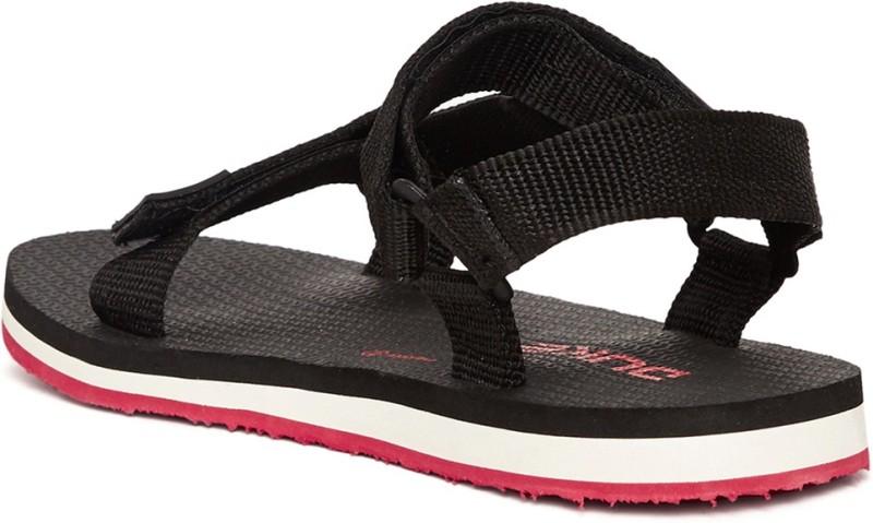 Duke Men Black Sports Sandals