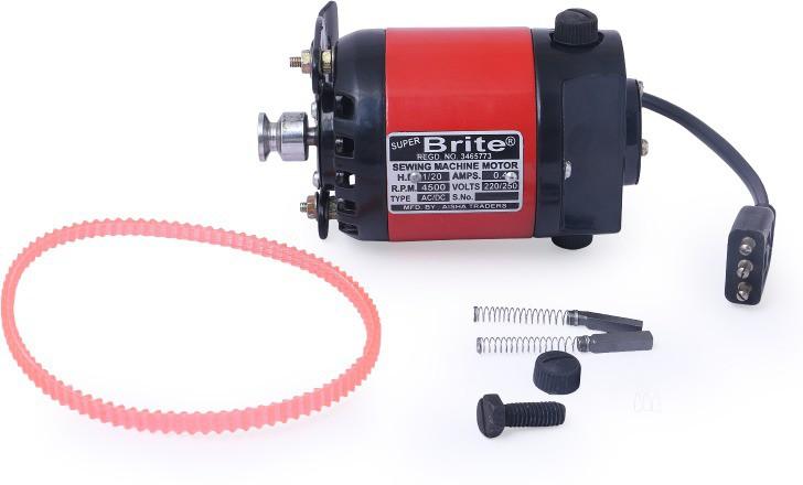 View Super Brite Super Brite Full Copper Motor (1/12) 3 Pin (Copper armature aluminium winding) (1/12 metal paddle) �� Electric Sewing Machine( Built-in Stitches 0) Home Appliances Price Online(Super Brite)