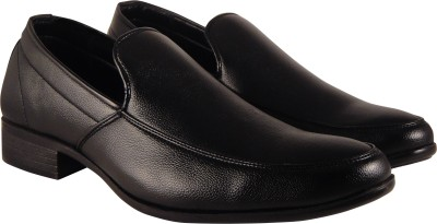 Action Synergy Mens Formal Shoes Black UNS4507 Slip On(Black)