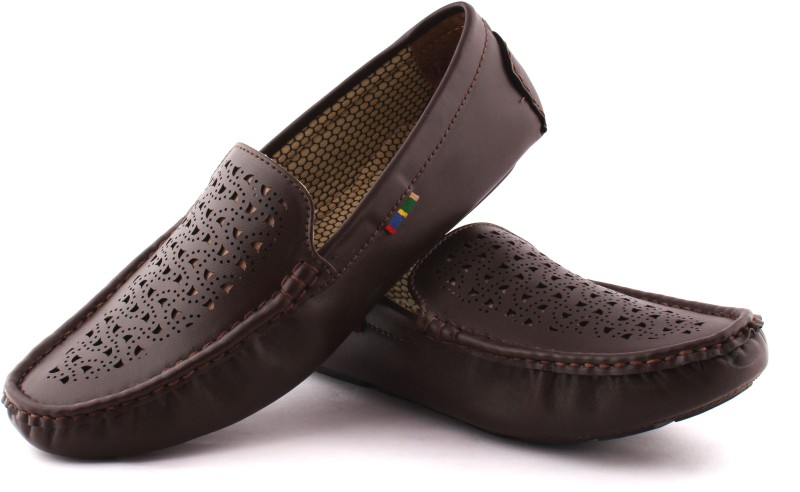 Redfoot Leatherlook Loafers(Brown)