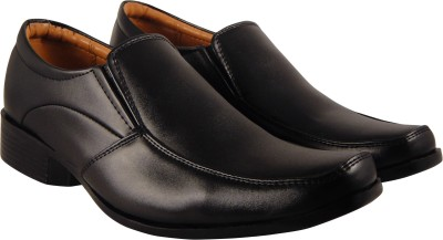 Action Synergy Mens Formal Shoes Black ME9938 Slip On(Black)