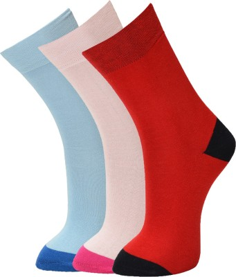 Vinenzia Mens Solid Crew Length Socks(Pack of 3)