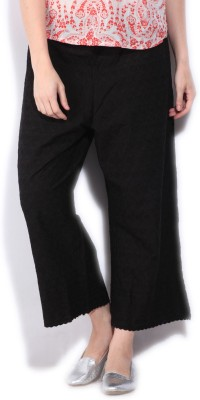 Biba Women's Black Trousers at flipkart