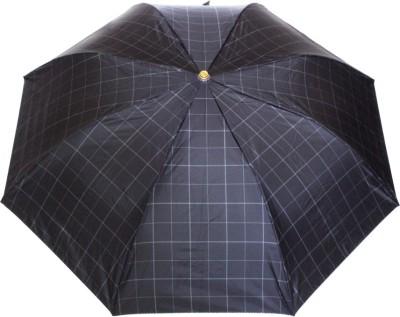 Sun Brand Commander 11- Big Size 2 Fold (Men UV Protective) Umbrella(Black, White)