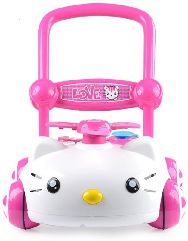 Wishkey Musical Activity Walker With Parent Rod(Pink)