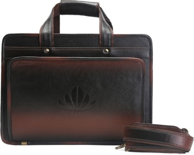 Abloom ABLM1517 Medium Briefcase - For Men(Brown)