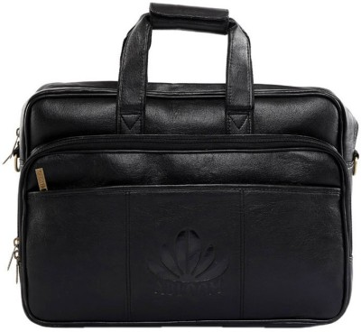 Abloom ABLM1507 Medium Briefcase - For Men(Black)