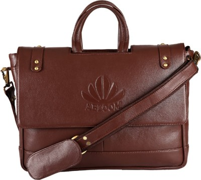 Abloom ABLM1512 Medium Briefcase - For Men(Brown)