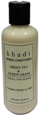 Khadi Herbal Green Tea & Lemon Grass hair conditioner (Paraben Free )(210 ml)