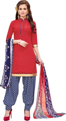 Saara Crepe Floral Print, Printed Salwar Suit Dupatta Material(Un-stitched) at flipkart