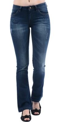 Ed Hardy Regular Women's Dark Blue Jeans at flipkart