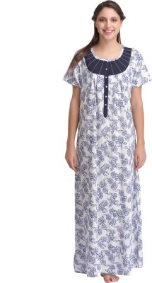 Clovia Women's Nighty(White) at flipkart