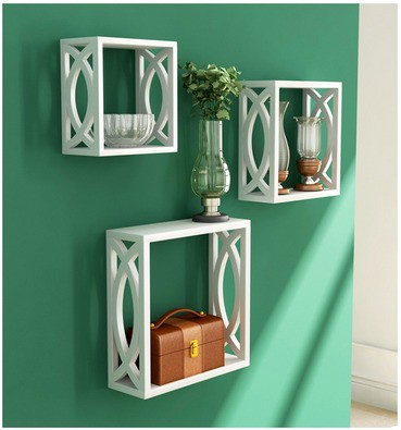 View A.S Wood MDF Wall Shelf(Number of Shelves - 3) Furniture (A. S Wood)