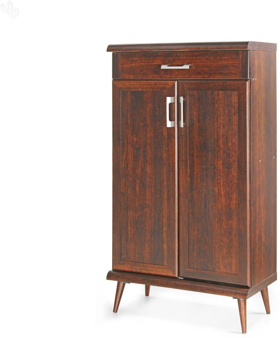 View Berlynoak Engineered Wood Shoe Cabinet(Brown) Furniture (Berlynoak)