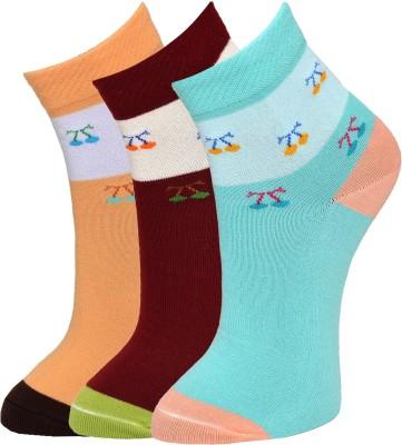 Marc Women's Graphic Print Ankle Length Socks(Pack of 3) at flipkart
