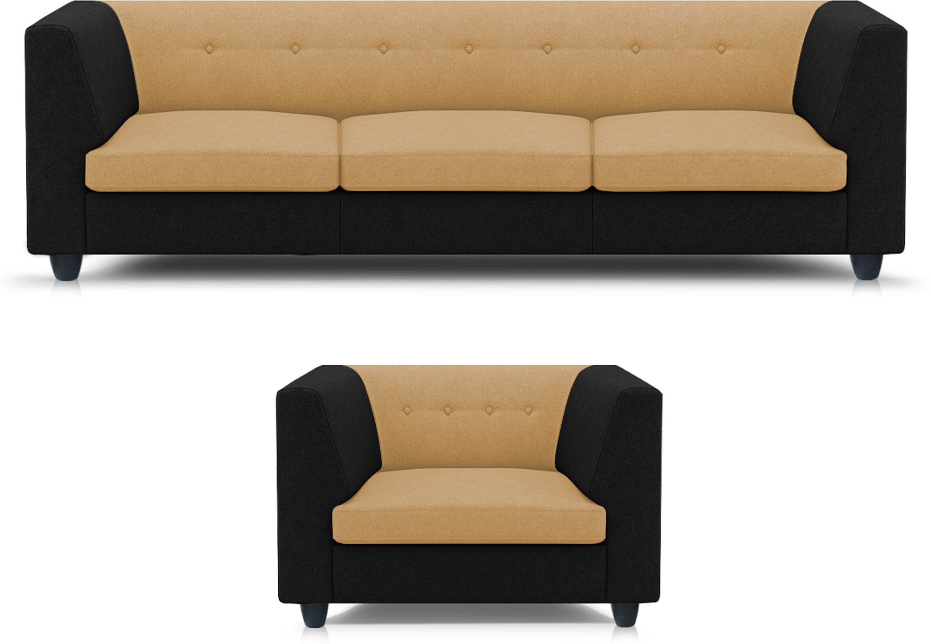 View Adorn homez Modern Solid Wood 3 + 1 Multi Sofa Set Furniture (Adorn homez)