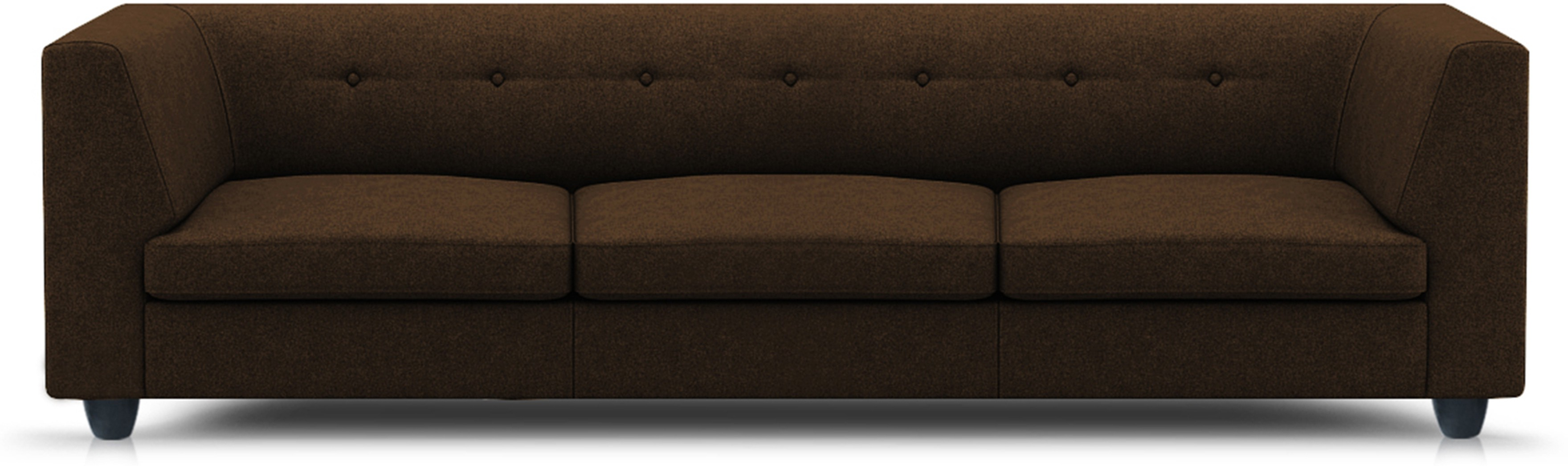 View Adorn homez Modern Solid Wood Sectional Brown Sofa Set Furniture (Adorn homez)