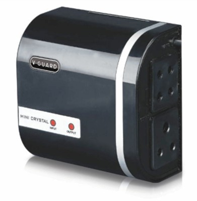 V Guard MINI CRYSTAL Voltage Stabilizer(Black, Red)