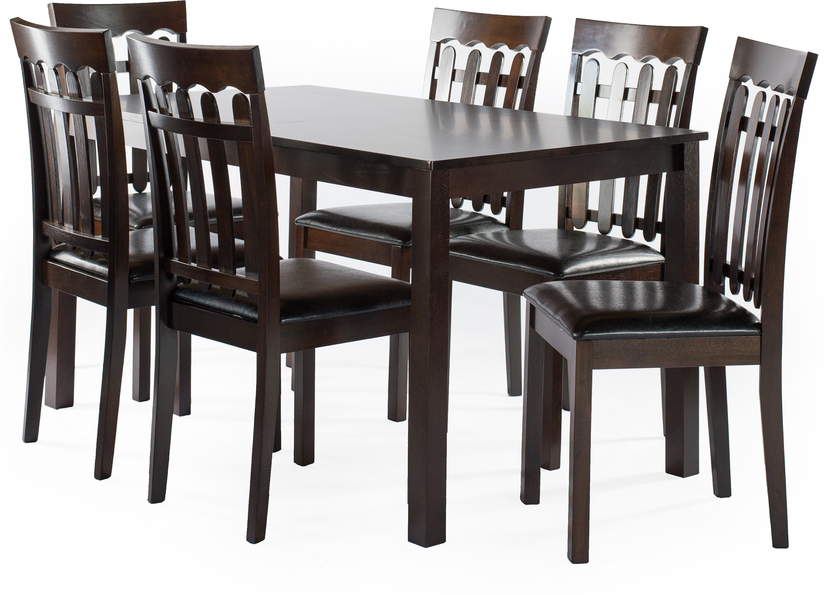 View FurnCulture Trentino Solid Wood 6 Seater Dining Set(Finish Color - Brown) Furniture (FurnCulture)