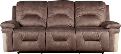 HomeTown Fabric Manual Recliners(Finish Color - Brown)