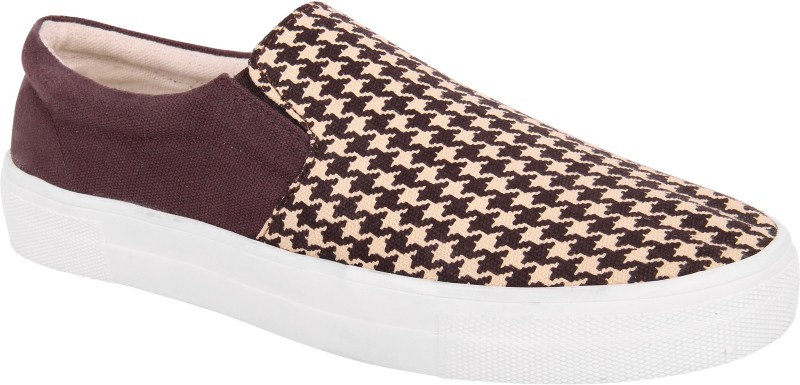 FINE ARCH Canvas Shoes(Brown, White)