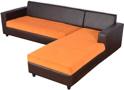 Cloud9 VICtoria L Shape LHS Loungher Solid Wood 4 Seater Modular(Finish Color - Multicolor)