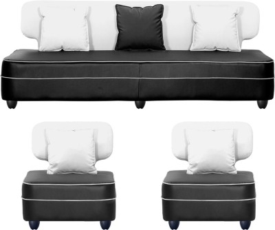 Bharat Lifestyle Butterfly Solid Wood 3 + 1 + 1 White Sofa Set