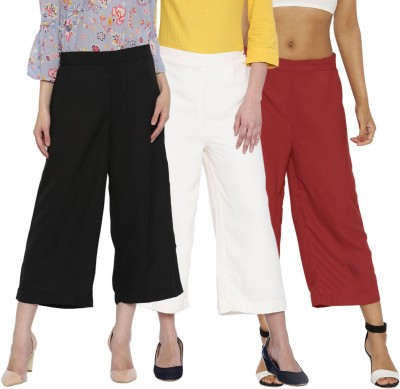 Rooliums Regular Fit Womens Multicolor Trousers