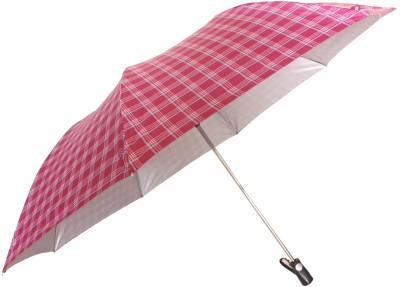 Sun Brand Commander 2- Big Size 2 Fold (Men UV Protective) Umbrella(Maroon, White)