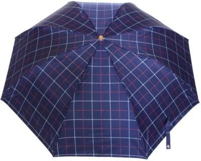 Sun Brand Swift 1- 3 Fold (Men UV Protective) Umbrella(Blue, Red)
