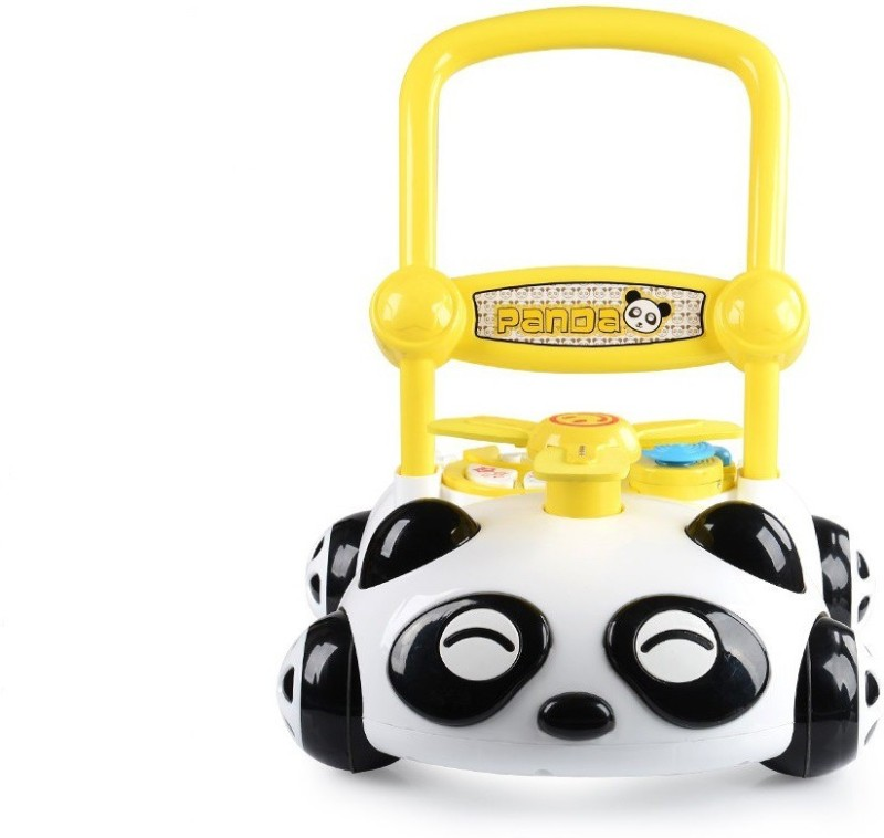 Wishkey Musical Activity Walker With Parent Rod(Yellow)