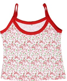 Babeezworld Camisole Bodysuit Slip For Baby Girls(Red, Pack of 1)