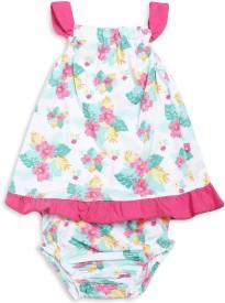 MINI KLUB Baby Girl's Midi/Knee Length Casual Dress(Pink, Sleeveless)