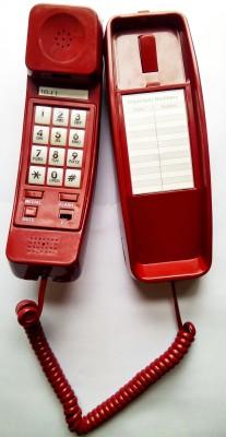 Sonitel KS-69 Corded Landline Phone(Red, Off White)