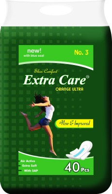 ExtraCare Orange Ultra XXL pack of 40 Pcs Sanitary Pad(Pack of 40)