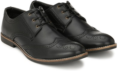 Fentacia Brogue Lace Up(Black)