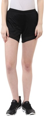 Ajile by Pantaloons Solid Women's Black Basic Shorts at flipkart
