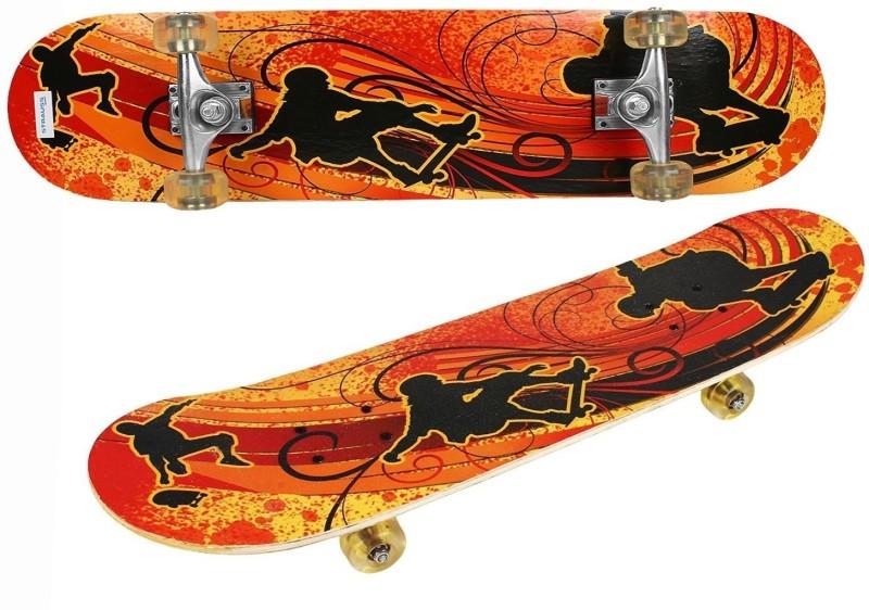 Strauss Bronx YB 8 inch x 4.5 inch Skateboard(Orange, Black,...