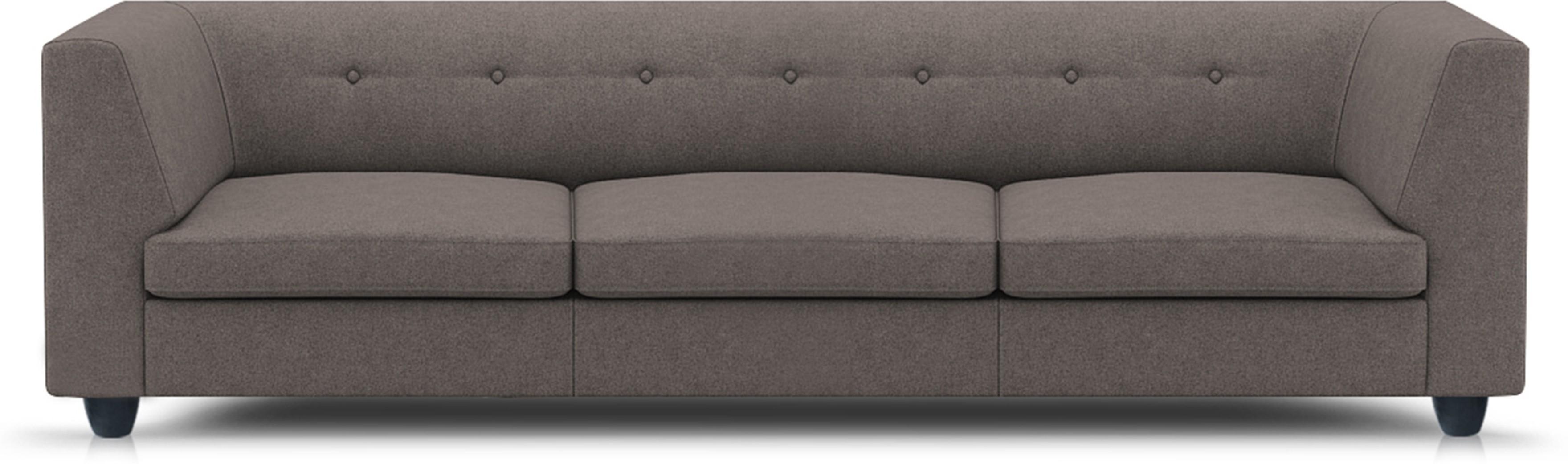 View Adorn homez Modern Solid Wood Sectional Grey Sofa Set Furniture (Adorn homez)