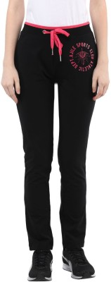 Ajile by Pantaloons Printed Women's Black Track Pants at flipkart