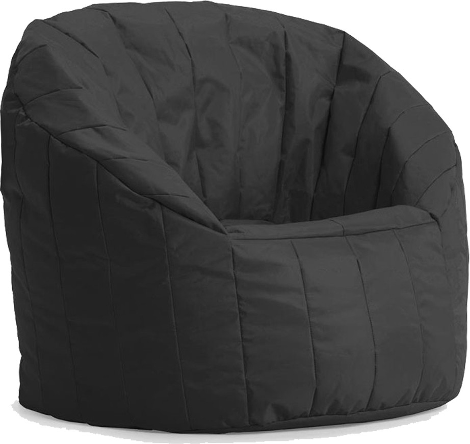 View Gabbroo XXXL Bean Chair Cover(Black) Furniture (StyleCraft)