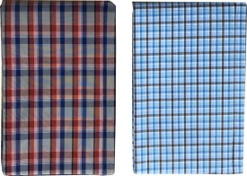 Morarjee Cotton Checkered Shirt Fabric(Un-stitched)