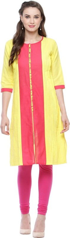 Ananj Casual Striped Women's Kurti(Multicolor)