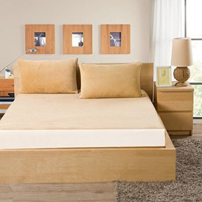 AVI Fitted Single Size Mattress Protector(Beige)