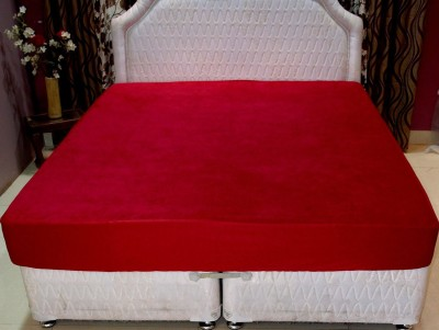 AVI Fitted Queen Size Mattress Protector(Maroon)